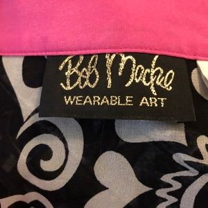 Bob Mackie Tops - Bob Mackie Wearable Art 1X Georgette Silk Floral